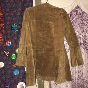 Jackets & Blazers - Brown Suede Leather Jacket